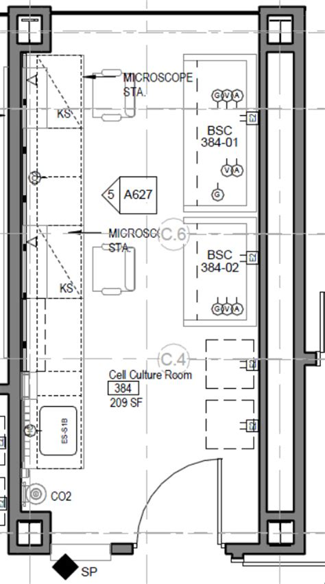 floor design plans cell culture room