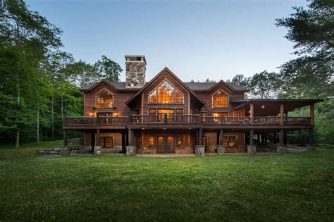 new waterfront home for sale with a mother in law suite and dock permit gavigan homes builder sullivan county lake front real estate