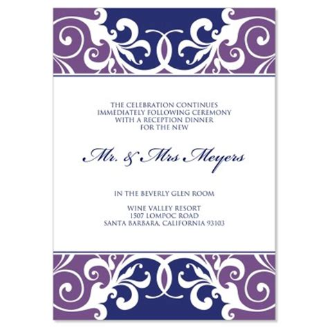 reception templates purple blue reception card templates jordana plum do