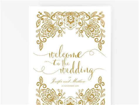 Wedding Program Booklet Diy Editable Ms Word Template Lace Gold An Xo Bspoke White And Gold Invitation Templates