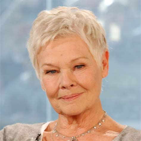 show back of judy dench hairstyle oscar winning actress dame judi dench is known to most of
