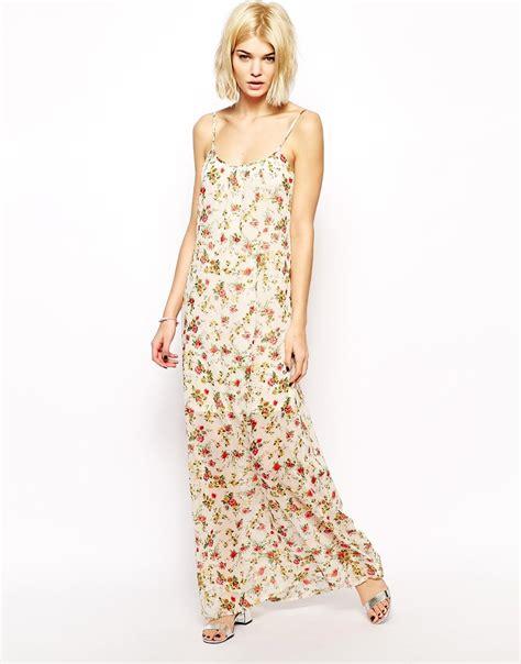 Bw0051 Maxi Dress Pink mango floral print maxi dress in pink lyst