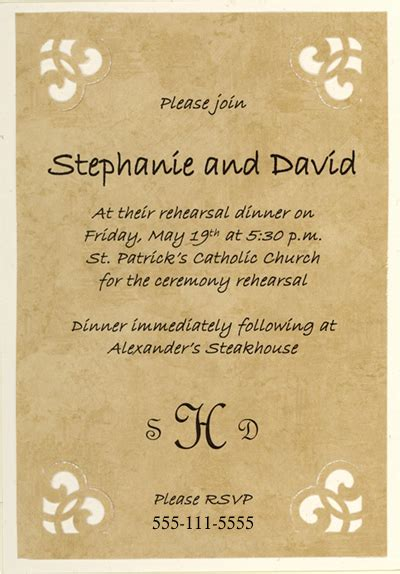 free wedding rehearsal invitations free printable wedding rehearsal dinner invitations cimvitation