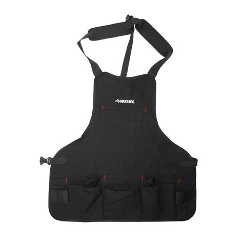 Husky 23.5 in. Canvas Bib Apron Black HD00122   The Home Depot
