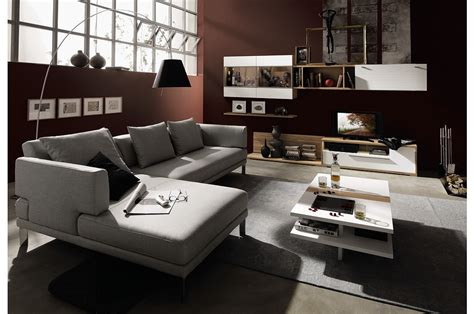 modern family room furniture advertisement