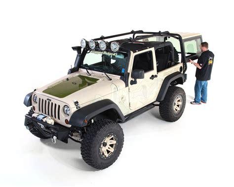 jeep wrangler 2 door storage rugged ridge sherpa roof rack jk 2 doors 11703 01