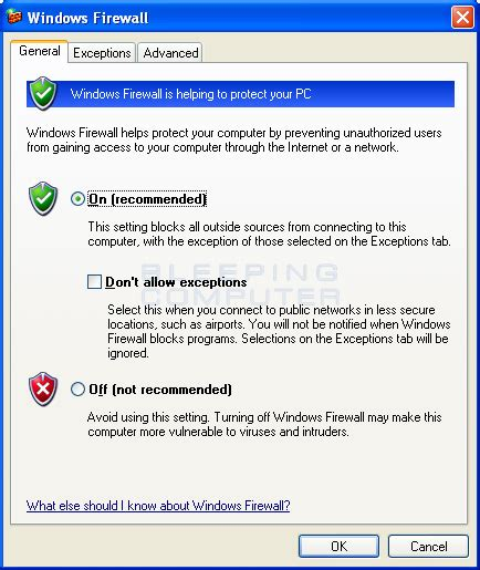tutorial radio online win how to configure the windows firewall in windows xp
