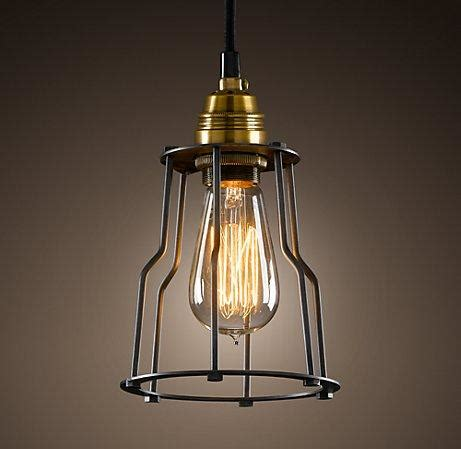 Cage Filament Pendant Ceiling Restoration Hardware Restoration Hardware Lighting Pendant