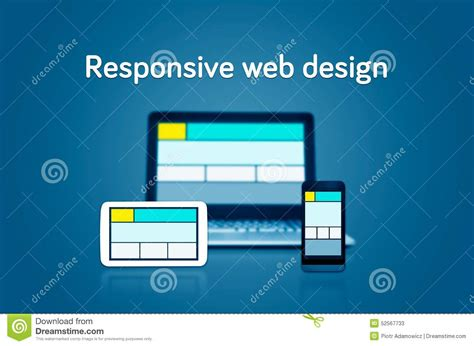 different layout in web design responsive web design layout devices stock illustration