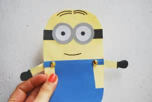 minion cutout template the pink doormat minion paper doll