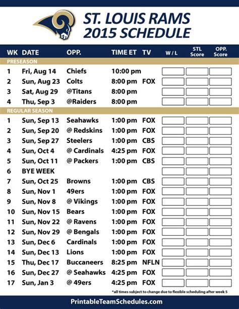 st rams schedule 2015 16 st louis rams schedule nfl