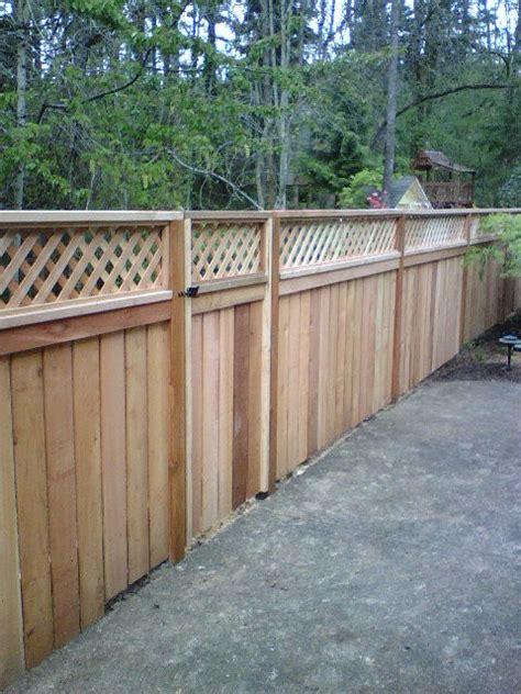 Top Trellis Wood Fence Lattice Top Fences