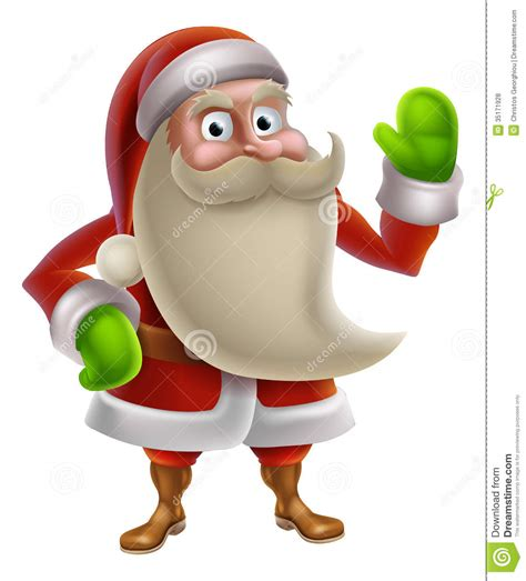 anmated waving snata santa waving royalty free stock photos image 35171928