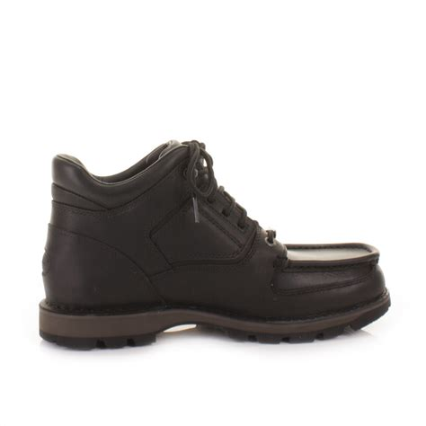 mens rockport umbwe black leather waterproof trail ankle