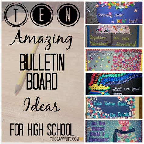 2408 Alg Atikah Set 10 amazing bulletin board ideas for high school this savvy the blogging elite