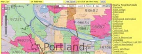 portland zip code map and portland neighborhood map real