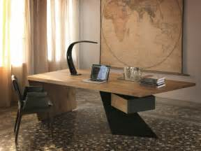 bureau bois massif contemporain mzaol