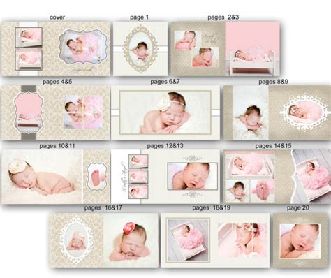 baby album templates items similar to baby album template for photographers