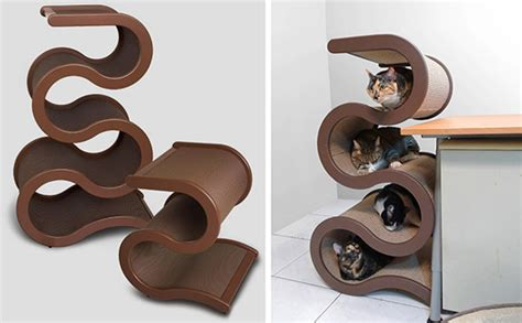 curvynest modern cat tree from catswall design
