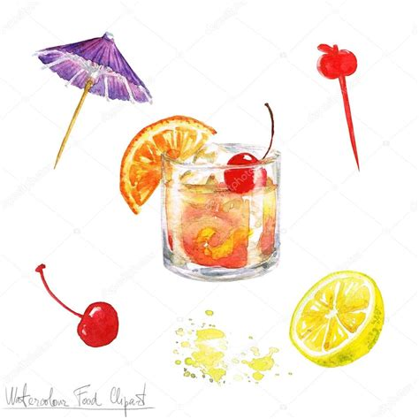 fashioned cocktail clipart watercolor food clipart fashioned stock photo