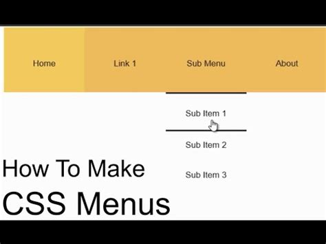 css tutorial step by step how to create a css drop down menu easy step by step