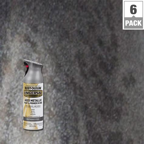 spray paint for steel rust oleum universal 12 oz all surface aged metallic