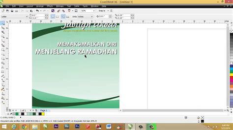 membuat flyer coreldraw cara membuat pamflet dengan coreldraw versi on the spot