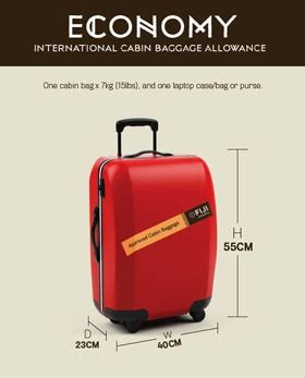 cabin baggage measurements flight baggage allowances fiji airways