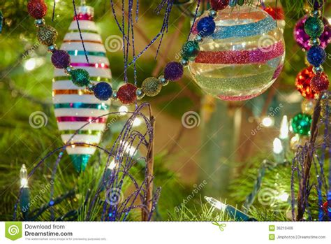 beautiful glass christmas ornaments stock photo image