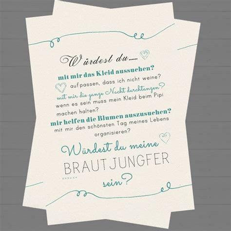Hochzeitseinladung Trauzeugen by Postkarte Brautjungfer Hochzeit Trauzeugin Fragen