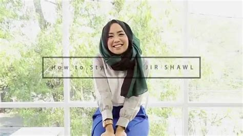 tutorial hijab qonitah al jundiah hijab tutorial jir shawl by qonitah al jundiah youtube