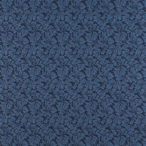 Navy Blue Upholstery Fabric by Navy Blue Foliage Damask Upholstery Fabric