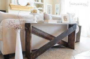 Furniture ideas i stumbled across this diy sofa table on the blog