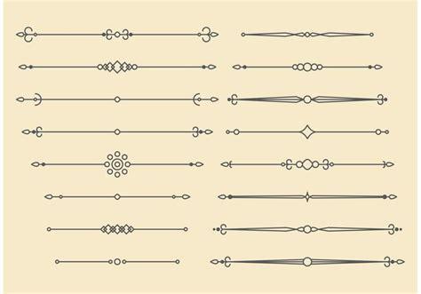retro vector ornament lines design   vector