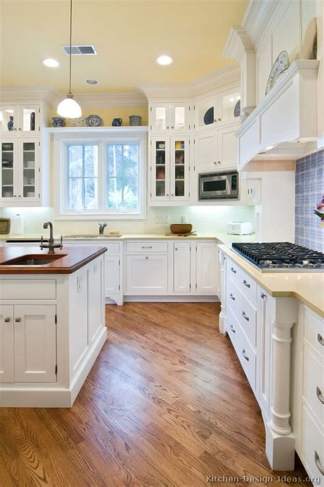 White On White Kitchen Ideas by Pictures Of Kitchens Traditional White Kitchen
