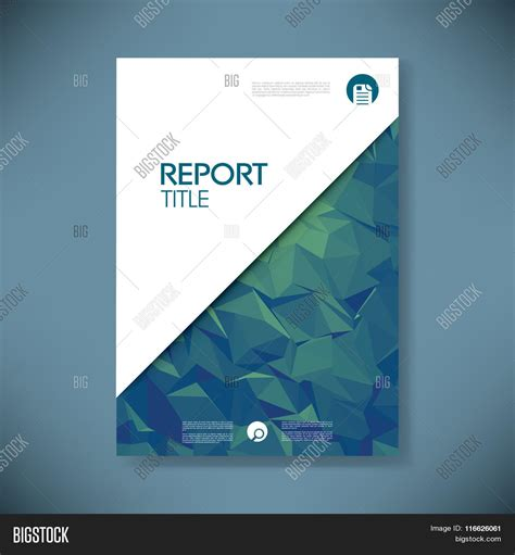 Business Report Cover Template On Vector Photo Bigstock Presentation Cover Page Template