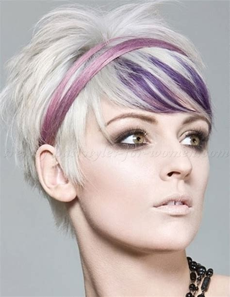 pictures of black women with funky color highlights short hairstyles short blonde hair with purple