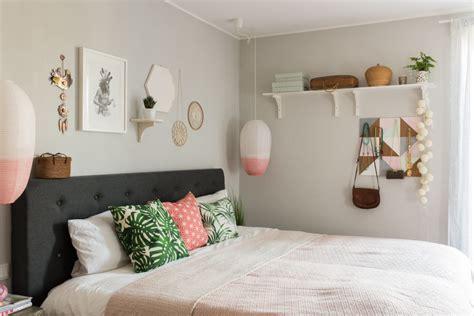moderne wände dekor schlafzimmer skandinavisch