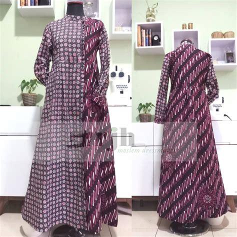 Kain Batik Handprint Bahan Doby 9 gamis batik ibu dyah rumah jahit haifa