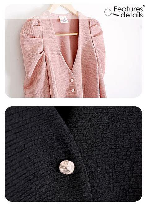 cardigan hitam lengan panjang cardigan with buttons