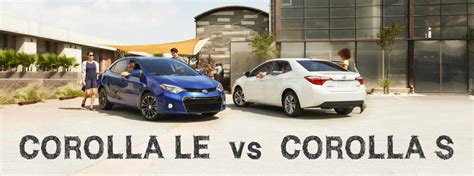 toyota corolla le vs s difference between the 2017 toyota corolla le and le eco