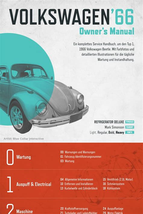 font design manual volkswagen 66 owners manual design comp from blue collar