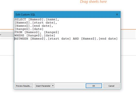 format date tableau using custom sql to fill a date range in tableau the
