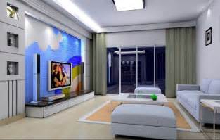 simple interior design living room rendering 3d house