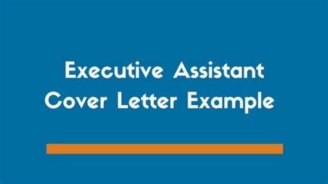 executive assistant cover letter exle zipjob