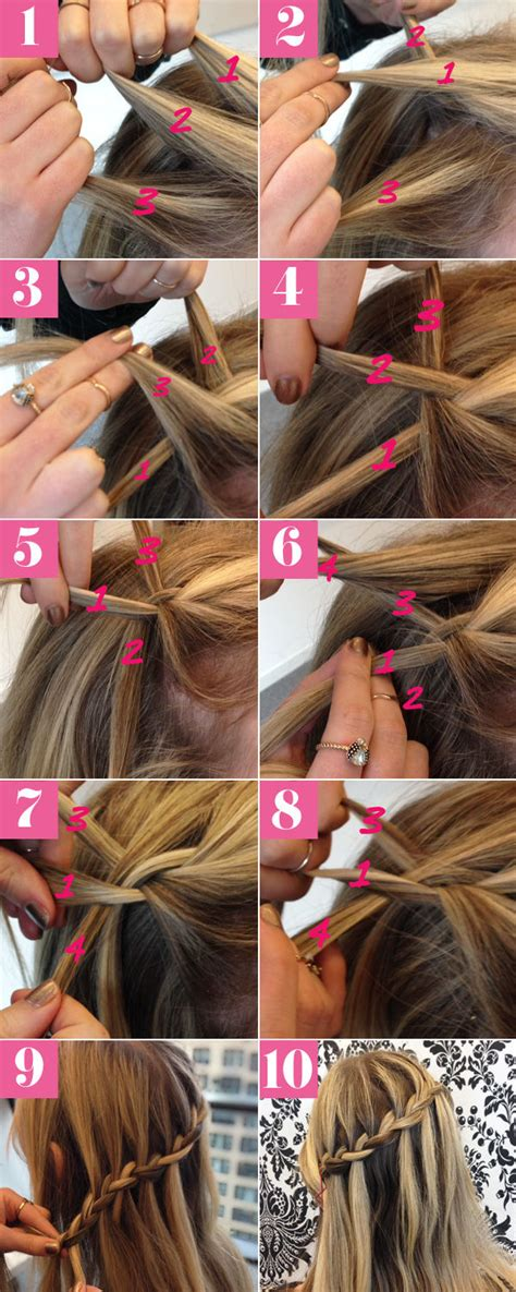 diy hairstyles step by step tumblr diy pretty waterfall braid hair tutorial pictures photos