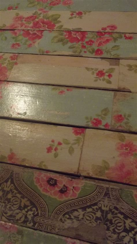 Decoupage Floors - paper floor for the vintage feel decoupage furniture
