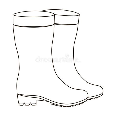 rubber boot template yellow rubber waterproof boots for women to work in the