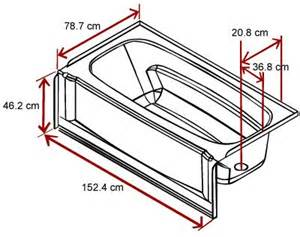 1000 ideas about bathtub dimensions on