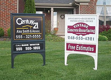 24x36 Real Estate Frame by Realicade Yard Sign Frames Power Graphics